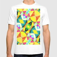 Kaleidab Mens Fitted Tee White SMALL
