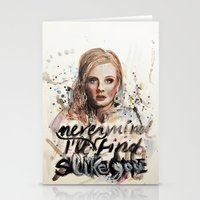 Adele - Nevermind/I'll N… Stationery Cards
