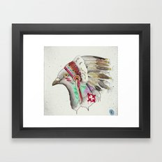 i know, its been done before. Framed Art Print