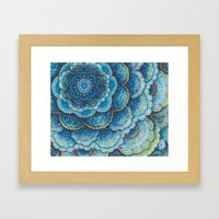 Birthday Mandala Framed Art Print