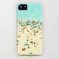 iPhone 5s & iPhone 5 Cases featuring Coney Island Beach by Mina Teslaru