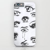 anime iPhone & iPod Cases featuring anime eyes by CALM OCEANS™