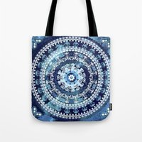 Marina Blue Mandala Tote Bag