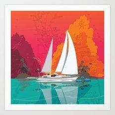 Sailing to Delos Art Print