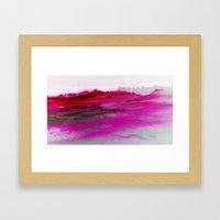 Purple Clouds Red Mounta… Framed Art Print