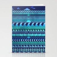Aqua | Tribal Stationery Cards