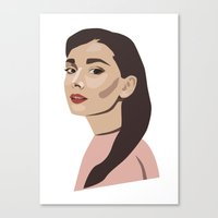 Canvas Print featuring Modern Hepburn by Evee Bang