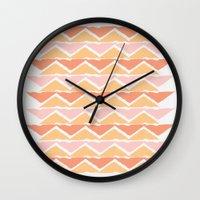 Triangle Sunset Wall Clock