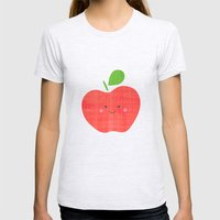 apple Womens Fitted Tee Ash Grey SMALL