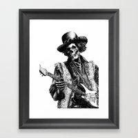 The Legend of Guitarist Framed Art Print