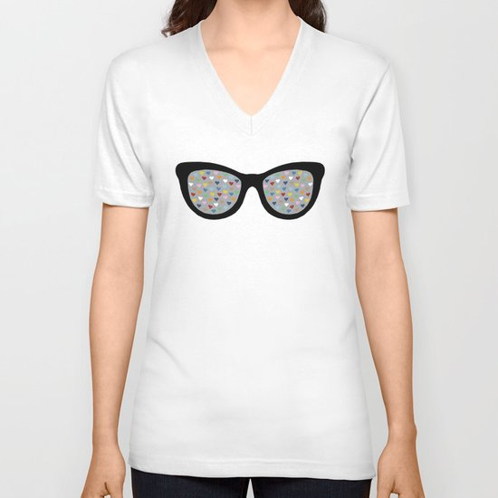 Heart Eyes V-neck T-shirt