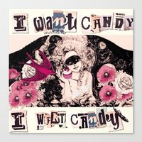 I want Candy! (Marie Antoinette) Canvas Print