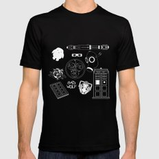 Wibbly wobbly... stuff SMALL Black Mens Fitted Tee