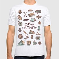 Lets Go Camping Mens Fitted Tee Ash Grey SMALL