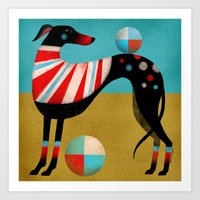 RACE DOG Art Print