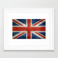 UK British Union Jack Fl… Framed Art Print