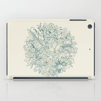 Denim flower circle iPad Case