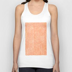 Stockinette Orange Unisex Tank Top