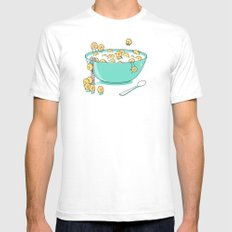 Early Morning Party White Mens Fitted Tee SMALL