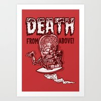 Death From Above (Red) Art Print