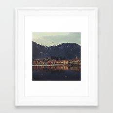 Reflections on the lake Framed Art Print