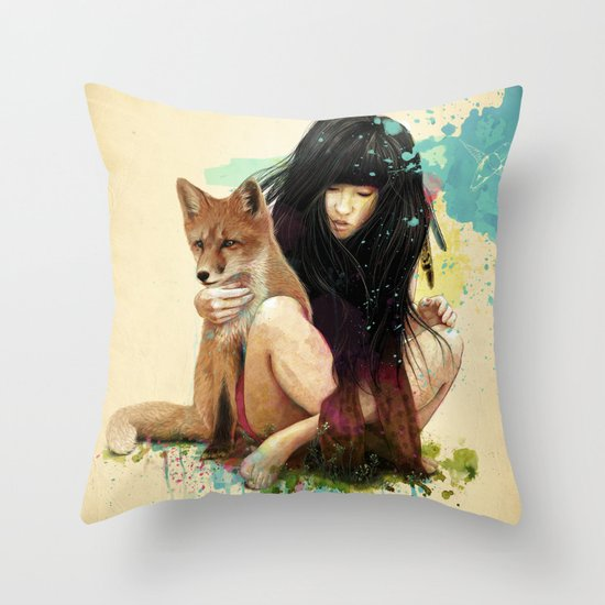 Fox Love Throw Pillow