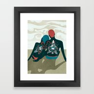 Love You / Love Me - Us … Framed Art Print