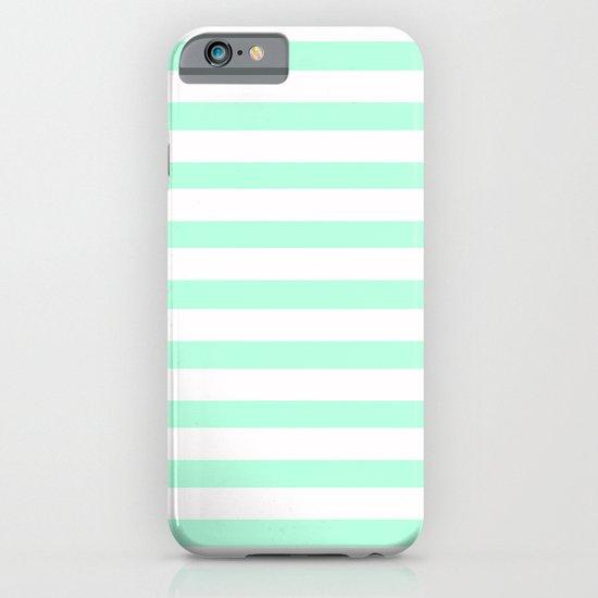 MINT STRIPES iPhone & iPod Case