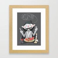 Vegan Vampire Framed Art Print