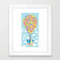 Up! On Clouds Framed Art Print