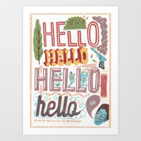 Hello! HELLO! Hello! HEL… Art Print