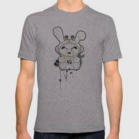 Space Bunny Mens Fitted Tee Athletic Grey SMALL