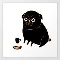 Tea Pug Art Print