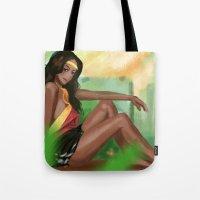 Girl In The Field Tote Bag