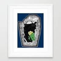 'scuse me ... Framed Art Print