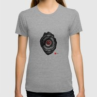 Power Off Womens Fitted Tee Tri-Grey SMALL