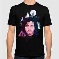 Jon Snow Mens Fitted Tee Black SMALL