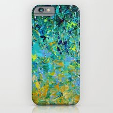 BEAUTY BENEATH THE SURFACE - Stunning Ocean River Water Nature Green Blue Teal Yellow Aqua Abstract Slim Case iPhone 6s