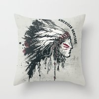 American Heritage (White… Throw Pillow