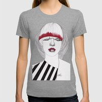 Chevron Womens Fitted Tee Tri-Grey SMALL