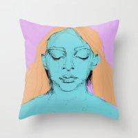 Sad Annie Throw Pillow