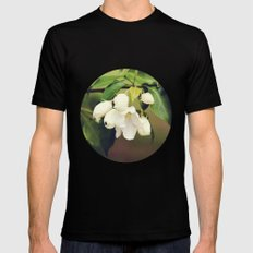 spring blossom. Mens Fitted Tee Black SMALL