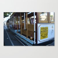 Cable Car Gnome Canvas Print