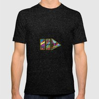 PlayPause Mens Fitted Tee Tri-Black SMALL