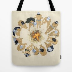 Finding Warmth Together Tote Bag