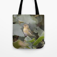 A Female Yellow Warbler Tote Bag