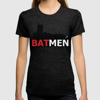 Bat Men Womens Fitted Tee Tri-Black SMALL