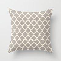 Gray Clover Throw Pillow