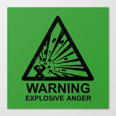 Warning: Explosive Anger Canvas Print