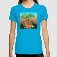 Ethiopian Wolf Womens Fitted Tee Teal SMALL